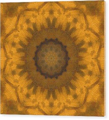 Golden Flower Wood Print by Dan Sproul