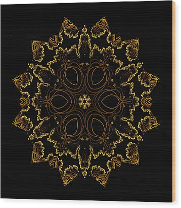 Golden Flower Of The Night Wood Print by Owlspook