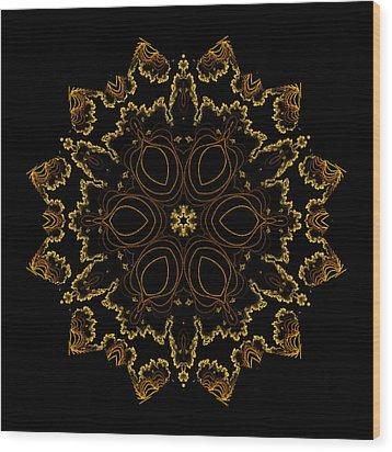Golden Flower Of The Night Wood Print
