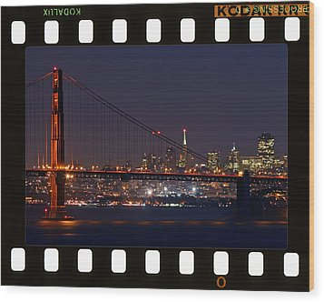 Wood Print featuring the photograph Golden Gate 35mm Frame by Christopher McKenzie