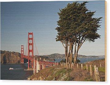 Wood Print featuring the photograph Golden Gate Bridge 1 by Lee Kirchhevel