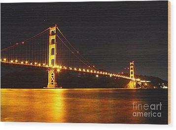 Golden Gate Bridge 2 Wood Print by Theresa Ramos-DuVon
