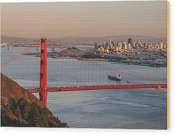 Wood Print featuring the photograph Golden Gate Bridge And San Francisco 1 by Lee Kirchhevel