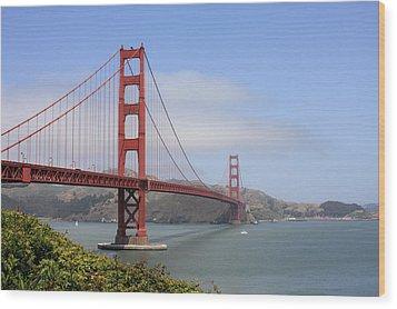 Golden Gate Bridge Wood Print by Ann Van Breemen