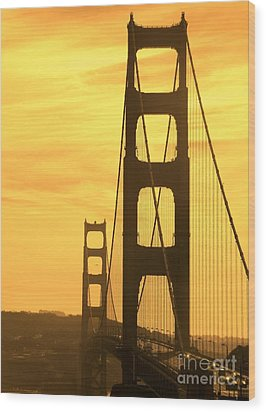 Wood Print featuring the photograph Golden Gate Bridge  by Clare Bevan