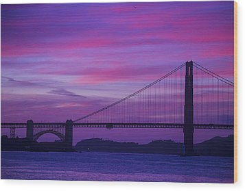 Golden Gate Bridge At Twilight Wood Print by Garry Gay