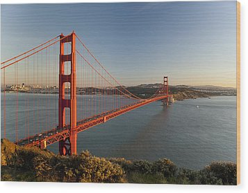 Golden Gate Bridge Wood Print by Francesco Emanuele Carucci