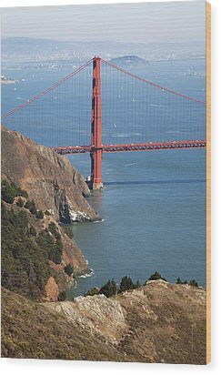 Golden Gate Bridge II Wood Print by Jenna Szerlag