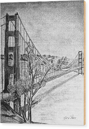 Golden Gate Bridge Wood Print by Irving Starr
