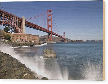 Golden Gate Bridge Wood Print by Melanie Viola