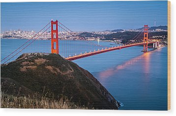 Wood Print featuring the photograph Golden Gate Bridge by Mihai Andritoiu