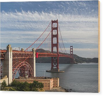 Golden Gate Bridge Morning Light Wood Print