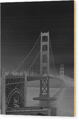 Golden Gate Bridge To Sausalito Wood Print by Connie Fox