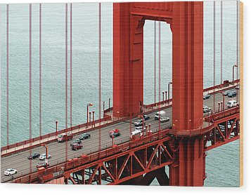 Wood Print featuring the photograph Golden Gate Bridge by Yue Wang