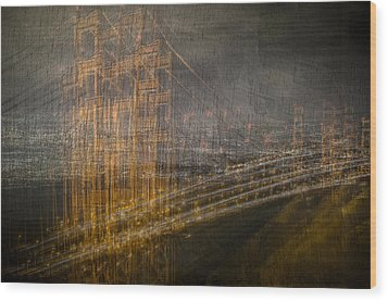 Golden Gate Chaos Wood Print
