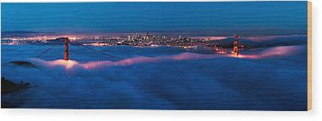 Golden Gate Wood Print by Francesco Emanuele Carucci