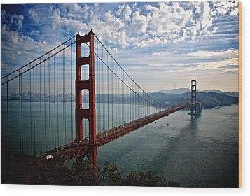Golden Gate Open Wood Print by Eric Tressler
