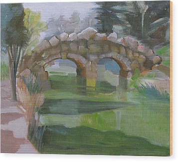 Golden Gate Park Footbridge Stowe Lake Wood Print