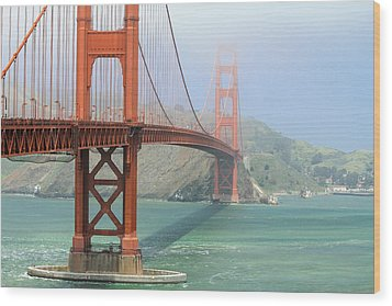 Wood Print featuring the photograph Golden Gate by Steven Bateson