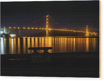 Golden Gate Wood Print by Steven Reed