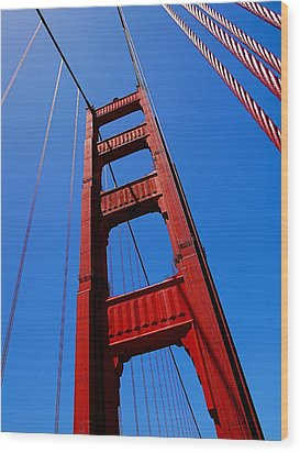 Golden Gate Tower Wood Print by Rona Black