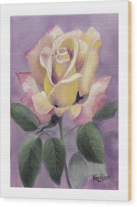 Golden Glory Wood Print by Nancy Edwards