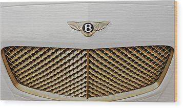 Golden Grill Bentley Wood Print by Maj Seda