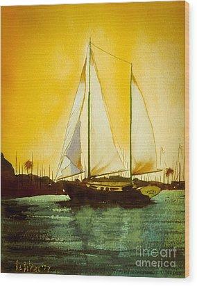 Golden Harbor  Wood Print by Kip DeVore