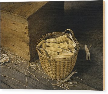 Golden Harvest Wood Print