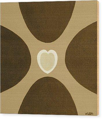 Golden Heart 3 Wood Print
