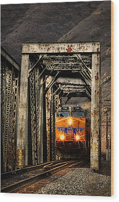 Wood Print featuring the photograph Golden Hour Crossing by Ken Smith