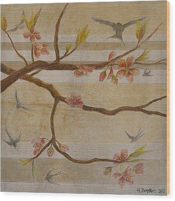Golden Hour Wood Print by Hannah Boynton