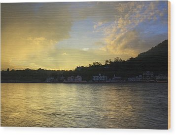 Golden Hour - Rishikesh Wood Print by Rohit Chawla