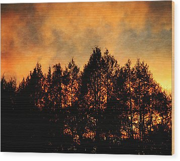 Golden Hours Wood Print