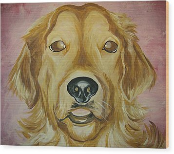 Wood Print featuring the painting Golden by Leslie Manley