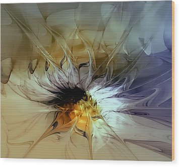 Golden Lily Wood Print by Amanda Moore