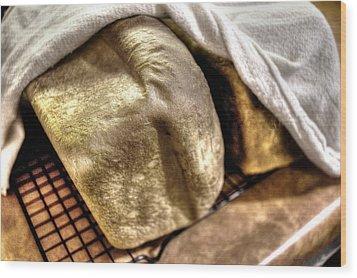Golden Loaves Wood Print