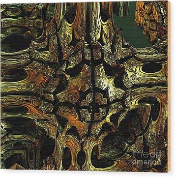 Golden Medal Wood Print by Bernard MICHEL