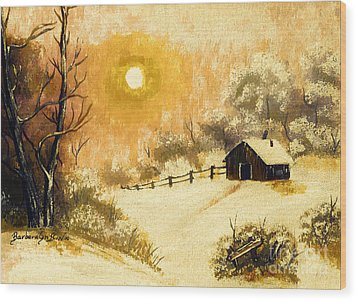 Golden Morning Wood Print by Barbara Griffin