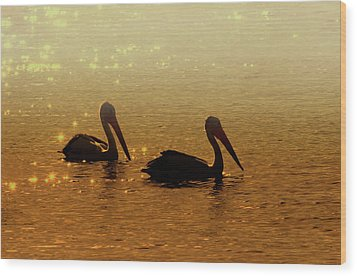 Golden Morning Wood Print by Mike  Dawson