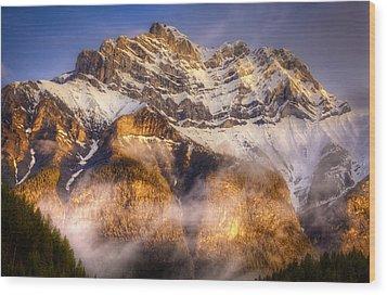 Golden Mountain Wood Print by Stuart Deacon