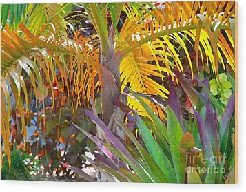 Wood Print featuring the photograph Golden Palm 2 by Darla Wood