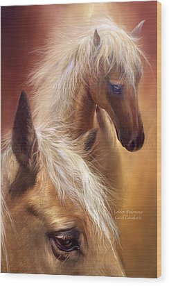 Golden Palomino Wood Print by Carol Cavalaris