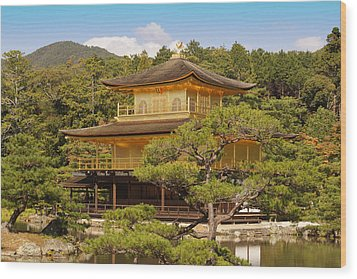 Wood Print featuring the photograph Golden Pavilion by Cassandra Buckley