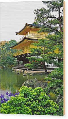 Golden Pavilion - Kyoto Wood Print by Juergen Weiss