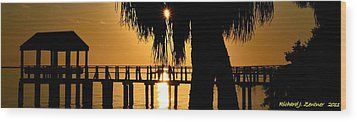 Wood Print featuring the photograph Golden Pier Panorama by Richard Zentner