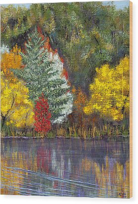 Wood Print featuring the painting Autumn Tapestry by Margaret Bobb