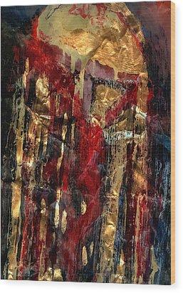 Golden Rain Wood Print by Daniel Bonnell