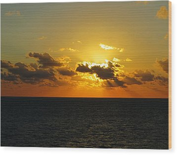 Wood Print featuring the photograph Golden Rays Sunset by Jennifer Wheatley Wolf