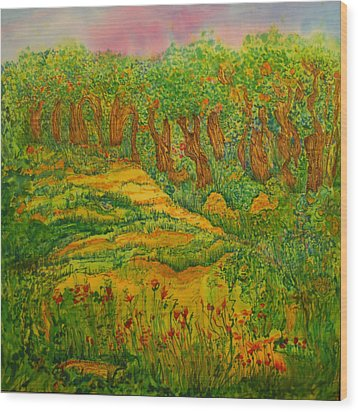 Wood Print featuring the painting Everyday-a New Beginning by Susan D Moody